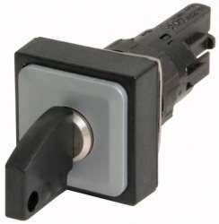 Переключатель с ключом, 3 положения, цвет черный, с фиксацией (Q25S3R-A6) арт.72384