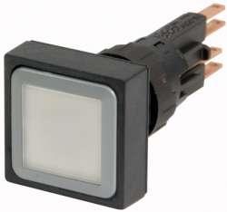 Кнопка с подсветкой , белый, с фиксацией, лампа 24 В (Q25LTR-WS/WB) арт.86447