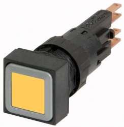 Кнопка с подсветкой , желтый цвет, с фиксацией (Q18LTR-GE) арт.87764