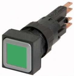 Кнопка с подсветкой , цвет зеленый, с фиксацией (Q18LTR-GN) арт.87831