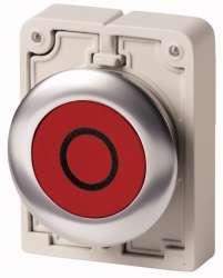 Кнопка плоская 30мм, с фиксацией арт.M30C-FDR-R-X0