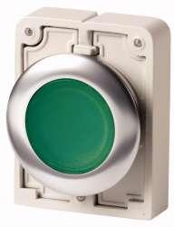 Кнопка плоская 30мм, зеленая, с подсветкой, с фиксацией арт.M30C-FDRL-G