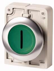 Кнопка плоская 30мм, с подсветкой, с фиксацией арт.M30C-FDRL-G-X1