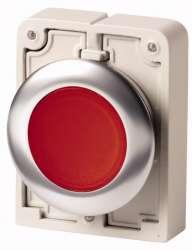 Кнопка плоская 30мм, красная, с подсветкой, с фиксацией арт.M30C-FDRL-R