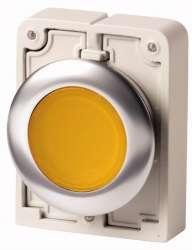 Кнопка плоская 30мм, желтая, с подсветкой, с фиксацией арт.M30C-FDRL-Y