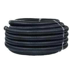 Труба гофр. FRHF с зондом d40мм (25м.) черная Plast EKF PROxima