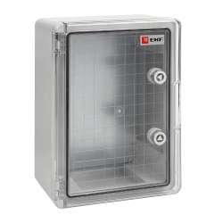 Бокс пластиковый с монтажной платой прозр. дверь 400х300х170 мм IP65 EKF PROxima