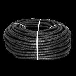 Труба гофр. ПНД Plast с зондом d20мм (25м.) черная EKF PROxima