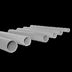 Труба гладкая жесткая ПВХ d25 EKF серая (111м/уп) (3м.) EKF PROxima