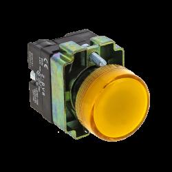 Лампа сигнальная BV65 желтая EKF PROxima