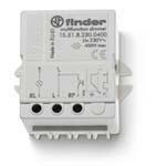 FINDER Электронный диммер; 400Вт; ступенчатое диммирование; питание 230В АC; монтаж в коробке; степень защиты IP20(арт.155182300400)