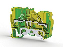 KLEMSAN 336520 Клеммник пружинный быстрозажимной (Push in), 6 мм.кв., (земля); PYK6T
