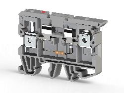 KLEMSAN 351529 Клеммник с держ. предохр. (5х20, 5х25) с индикацией 110VDC на DIN-рейку, 6 мм.кв. (серый); ASK 2LD (110 VDC)