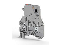 KLEMSAN 355329 Клеммник с держ. предохр. (5х20, 5х25), откид.картридж, с индикацией 48VDC, на DIN-рейку, 4 мм.кв., (серый); ASK 3MLD 48VDC