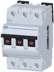 APN-63-3 Тумблерный выключатель In 63 A, Ue 230/400 V a.c., 60/220 V d.c., 3-полюс, ширина 3 модуля