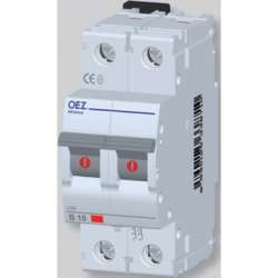 LPE-16B-2 Автоматический выключатель In 16 A, Ue 230/400 V a.c., 60/220 V d.c., характеристика B, 2-полюс, Icn 6 kA