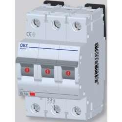 LPE-6C-3 Автоматический выключатель In 6 A, Ue 230/400 V a.c., 60/220 V d.c., характеристика C, 3-полюс, Icn 6 kA