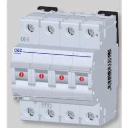 LPE-25C-3N Автоматический выключатель In 25 A, Ue 230/400 V a.c., 60/220 V d.c., характеристика C, 3+N-полюс, Icn 6 kA