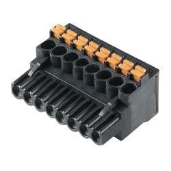 Weidmuller 1000050001 BLF 5.08HC/04/90 SN BK BX Исполнение: Штекерный соединитель печатной платы, Гнездовой разъем, 5.08 мм.кв Количество полюсов: 4, 90°, PUSH IN, Диапазон размеров зажимаемых проводников, измерительное соединение, макс.: 3.31 мм.кв, Ящик