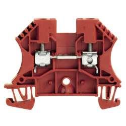 Weidmuller 1020140000 WDU 4 RT Исполнение: Проходная клемма, Винтовое соединение, 4 мм.кв, 800 V, 32 A, красный