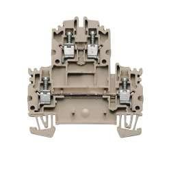 Weidmuller 1041900000 WDK 4N Исполнение: Двухуровневая клемма, Винтовое соединение, 4 мм.кв, 800 V, 32 A, Темно-бежевый