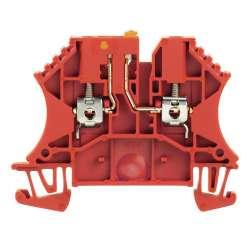 Weidmuller 1062290000 WTR 2.5 STB2.3 RT Исполнение: Измерительная клемма с размыкателем, Винтовое соединение, 2.5 мм.кв, 500 V, 24 A, поворотный, красный