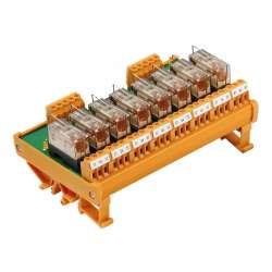 Weidmuller 1107761001 RSM 8R 24VDC LP GEM.- Исполнение: RSM-серия, Релейный модуль, Количество контактов: 1 Переключающий контакт AgNi 90/10, Номинальное напряжение: 24 В DC, Ток: 6 A, Винтовое соединение