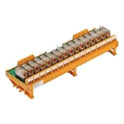 Weidmuller 1107861001 RSM 16R 24VDC LP GEM.- Исполнение: RSM-серия, Релейный модуль, Количество контактов: 1 Переключающий контакт AgNi 90/10, Номинальное напряжение: 24 В DC, Ток: 6 A, Винтовое соединение