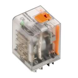 Weidmuller 1220140000 DRH276012LT Исполнение: D-SERIES DRW / DRH, Реле, Количество контактов: 2 НР контакт с искрогасительным магнитом и кнопкой проверки AgSnO2, Номинальное напряжение: 12 В DC, Ток: 16 A, Втычное соединение