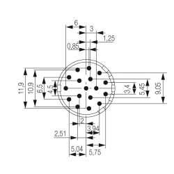 Weidmuller 1224370000 SAI-M23-SE-17-10мм.квИсполнение: Концентратор сигналов, соединительный разъем