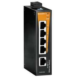 Weidmuller 1240850000 IE-SW-BL05T-5TX Исполнение: Сетевой выключатель, unmanaged, Fast Ethernet, Количество портов: 5 x RJ45, IP30, -40 °C...75 °C