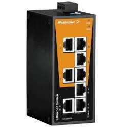 Weidmuller 1240900000 IE-SW-BL08-8TX Исполнение: Сетевой выключатель, unmanaged, Fast Ethernet, Количество портов: 8 x RJ45, IP30, -10 °C...60 °C