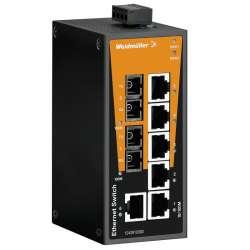 Weidmuller 1240910000 IE-SW-BL08-6TX-2SC Исполнение: Сетевой выключатель, unmanaged, Fast Ethernet, Количество портов: 6 x RJ45, 2 * SC, многомодовый, IP30, -10 °C...60 °C