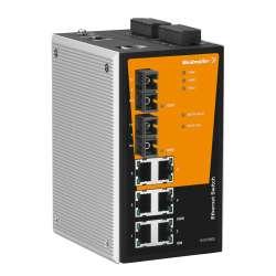 Weidmuller 1241070000 IE-SW-PL08M-6TX-2SC Исполнение: Сетевой выключатель, managed, Fast Ethernet, Количество портов: 6 x RJ45, 2 * SC, многомодовый, IP30, 0 °C...60 °C
