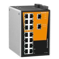 Weidmuller 1241100000 IE-SW-PL16M-16TX Исполнение: Сетевой выключатель, managed, Fast Ethernet, Количество портов: 16 x RJ45, IP30, 0 °C...60 °C