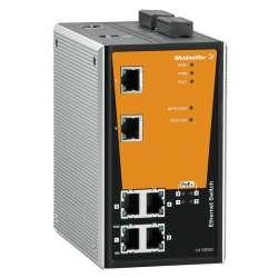 Weidmuller 1241390000 IE-SW-PL06M-2TX-4POE Исполнение: Сетевой выключатель, managed PoE, Fast Ethernet, Количество портов: 2 * RJ45 10/100 BaseT(X), 4 * RJ45 10/100 BaseT(X) PoE+, IP30, 0 °C...60 °C