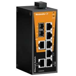Weidmuller 1286580000 IE-SW-BL08T-7TX-1SCS Исполнение: Сетевой выключатель, unmanaged, Fast Ethernet, Количество портов: 7x RJ45, 1 * SC, одномодовый, IP30, -40 °C...75 °C