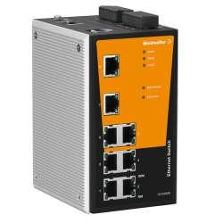 Weidmuller 1286780000 IE-SW-PL08MT-8TX Исполнение: Сетевой выключатель, managed, Fast Ethernet, Количество портов: 8 x RJ45, IP30, -40 °C...75 °C