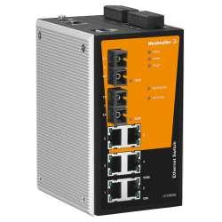 Weidmuller 1286800000 IE-SW-PL08MT-6TX-2ST Исполнение: Сетевой выключатель, managed, Fast Ethernet, Количество портов: 6 x RJ45, 2 * ST, многомодовый, IP30, -40 °C...75 °C