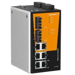 Weidmuller 1286810000 IE-SW-PL08MT-6TX-2SCS Исполнение: Сетевой выключатель, managed, Fast Ethernet, Количество портов: 6 x RJ45, 2 * SC, одномодовый, IP30, -40 °C...75 °C