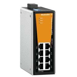 Weidmuller 1286860000 IE-SW-VL08T-8GT Исполнение: Сетевой выключатель, unmanaged, Gigabit Ethernet, Количество портов: 8 * RJ45 10/100/1000BaseT(X), IP30, -40 °C...75 °C