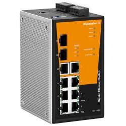 Weidmuller 1286940000 IE-SW-PL10MT-1GT-2GS-7TX Исполнение: Сетевой выключатель, managed, Gigabit Ethernet, Количество портов: 1 * RJ45 10/100/1000BaseT(X), 2 * слоты 1000BaseSFP, 7 * RJ45 10/100BaseT(X), IP30, -40 °C...75 °C