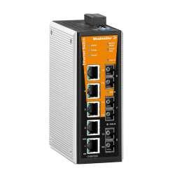 Weidmuller 1345240000 IE-SW-VL08MT-5TX-1SC-2SCS Исполнение: Сетевой выключатель, managed, Fast Ethernet, Количество портов: 5 x RJ45, 1 * SC, многомодовый, 2 * SC, одномодовый, IP30, -40 °C...75 °C