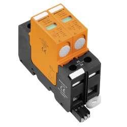 Weidmuller 1351080000 VPU II 2 R750V/25kA Исполнение: Низкое напряжение, с контактом дистанционной сигнализации, TN-C, TN-S