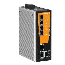 Weidmuller 1504350000 IE-SW-VL05MT-3TX-2SC Исполнение: Сетевой выключатель, managed, Fast Ethernet, Количество портов: 3 x RJ45, 2 * SC, многомодовый, IP30, -40 °C...75 °C