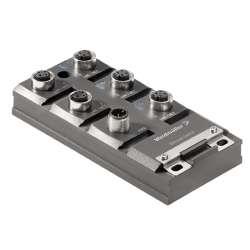 Weidmuller 1504420000 IE-SW-IP67T-5M12 Исполнение: Сетевой выключатель, unmanaged, Fast Ethernet, Количество портов: 5 * M12 D-codiert, IP67, в корпусе, -40 °C...75 °C