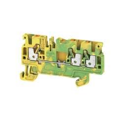 Weidmuller 1521670000 A3C 2.5 PE Исполнение: Клеммы PE, PUSH IN, 2.5 мм.кв, зеленый/желтый
