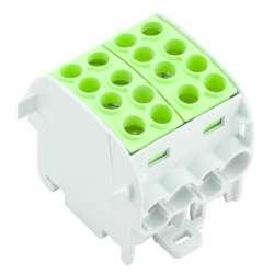 Weidmuller 1561620000 WPD 202 4x35/4x25 GN Исполнение: W-серия, Распределительный блок, Расчетное сечение: Винтовое соединение, TS 35