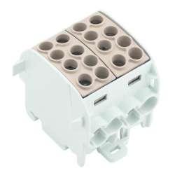 Weidmuller 1561720000 WPD 202 4x35/4x25 BN Исполнение: W-серия, Распределительный блок, Расчетное сечение: Винтовое соединение, TS 35
