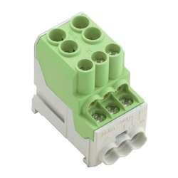 Weidmuller 1561930000 WPD 100 2X25/6X10 GN Исполнение: W-серия, Распределительный блок, Расчетное сечение: Винтовое соединение, TS 35
